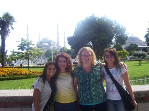 Emily, Joy, Beth & Kerry in Turkey Semester at Sea Summer 2010 Voyage