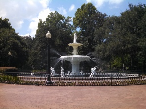Forsyth Park (Where the opening scene of Forrest Gump takes place)