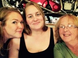 Alice, Erin, and Mum. Family twinning!