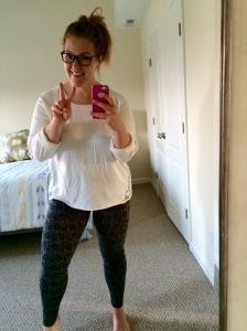 Full legs in leggings!
