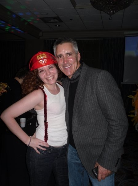 Fire Fighter and Billy Costa from Kiss 108 at the Kiss 108 Halloween Party in Salem a few years ago
