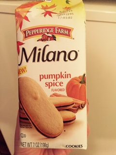 Pumpkin Milanos Ok fine, I didn't bake anything here, but no one turns down a Milano