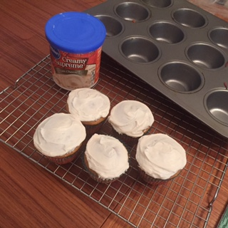 Pumpkin Cupcakes and Cream Cheese Frosting